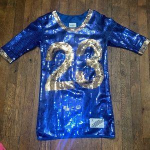 Adidas x Jeremy Scott mini dress sequin blue #23